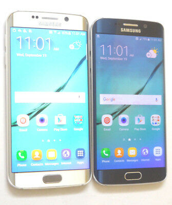 Lot of 2 Samsung Galaxy S6 Edge SM-G925T 32GB T-Mobile Smartphones AS-IS GSM ^