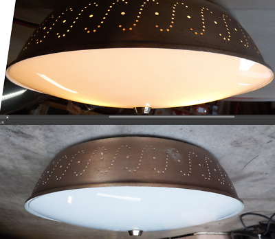 Ceiling Light Lamp Atomic Mid Century Eames Dining Room Kitchen 50s Vtg Fixture