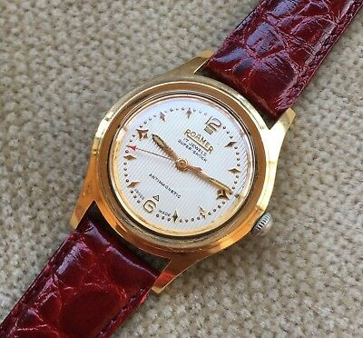 ROAMER SUPER SHOCK - Herrenuhr 33 mm + Box ca.1955