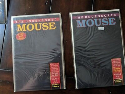 The Uncensored Mouse Vol #1 & 2 of comic strips from Floyd Gottfredson mickey