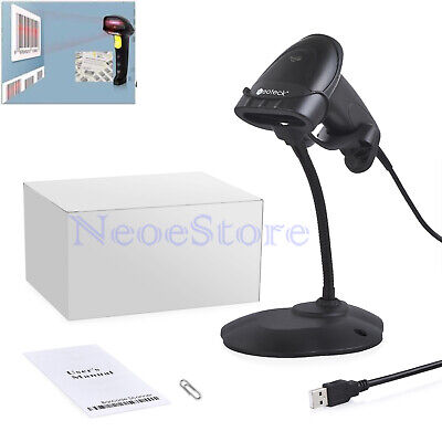 Handheld Laser Barcode Scanner USB Automatic Bar Code Scan Reader With Stand POS