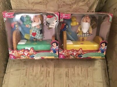 Disney Seven Dwarfs With Beds X2 Character Options Simba Toys Lot 2