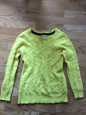 A Pea In The Pod Maternity Yellow Cashmere Sweater Large