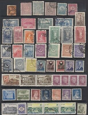 Turkey : Used collection (from 1868? to 1989), 100 different+