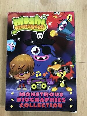Moshi Monsters Biographies Collection 4 Books Used