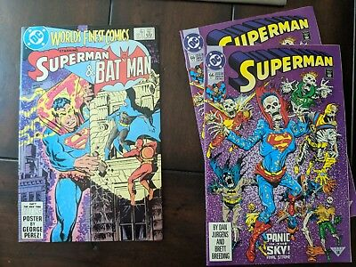 Superman 66 Panic in the Sky DC Comics Picture of Actual Item and superman 301