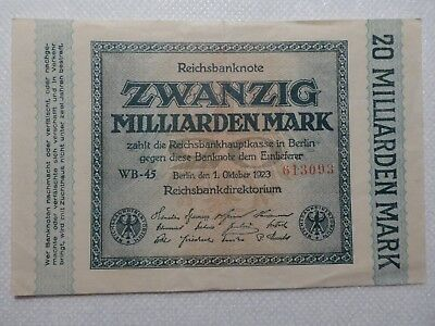 Reichsbanknoten, 20 Milliarden Mark, Ro. Nr. 115b