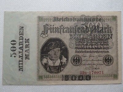 Reichsbanknoten, 500 Milliarden Mark, Ro. Nr. 121b