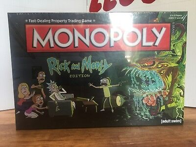 Monopoly Rick & Morty Edition Board Game Adult Swim TV Series New