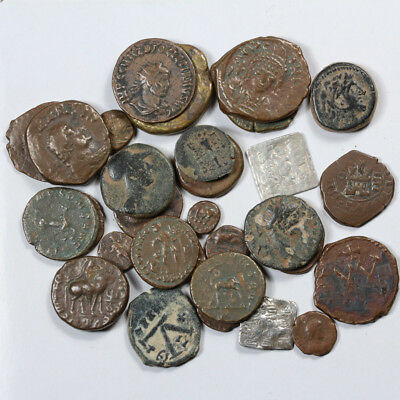 TOP Lot of  30 MIX CULTURES Ancient Bronze and Silver coins