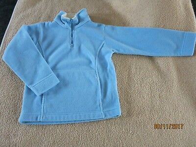 Power Kids Fleecepullover Gr.128 hellblau/weiß Top!!!! Neu !! Kinder Pullover