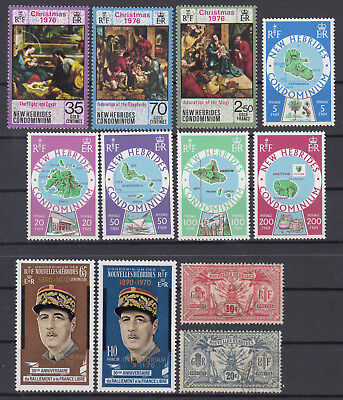 NEW HEBRIDES 1911-1977 ☀ IN MEMORIAM / Christmas / country maps ☀ 12V used/MNH