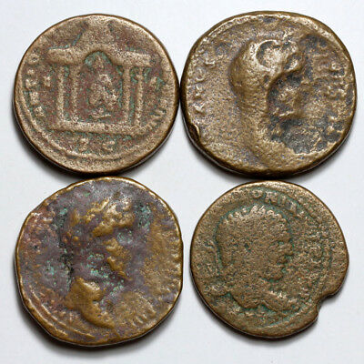 Top Lot of 4 Roman Sestertius And Provincial bronze coins-LARGE SIZES