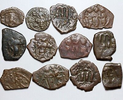 Lot of 12 Byzantine & Arab Byzantine Bronze Coins