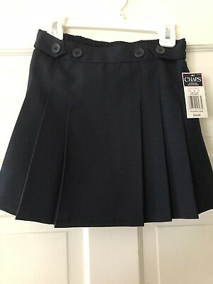Chaps Girls Pleated Skirt Size 7 New With Tag