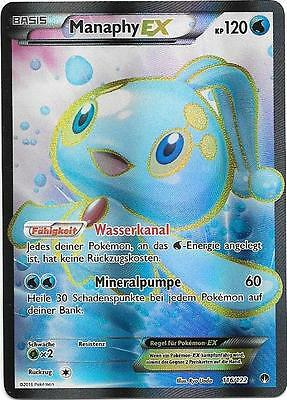 Pokemon Karte - Manaphy Ex - XY Turbofieber - Full Art - 116/122 - Deutsch
