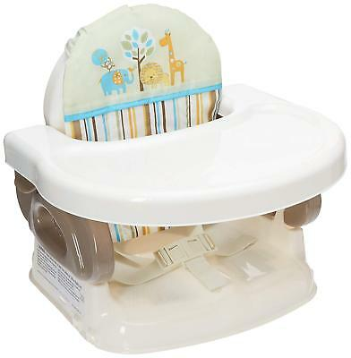 Baby Comfort Folding Booster Seat Safe Durable PortableFeeding Toddler Chair Tan