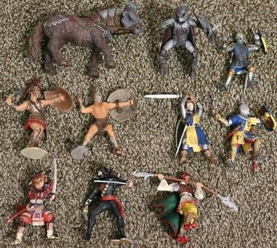 Schleich Action Figures Mix Lot Of Warriors