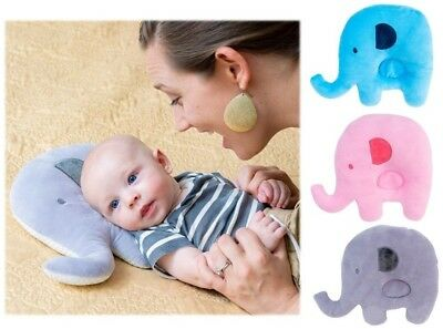 Newborn Soft Baby Pillow Prevent Flat Head Shaper Anti Roll Sleeping Support USA