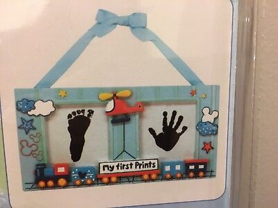 Disney Baby's First Prints Kit Train And Helicopter Foot & Hand Print New