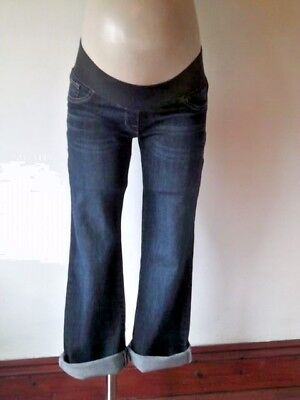 Next Maternity Indigo Under Bump Relaxed Cropped Jeans Size  8 10 12 Bnwt £25