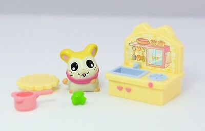 Vintage Rare Hamtaro Pashmina Figure & Accessories Complete set EPOCH original