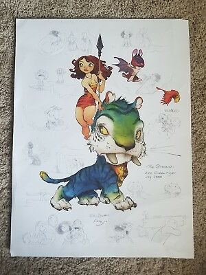 The Croods Concept Art Poster Print SDCC 2012  Chris Sanders and Alan Fong