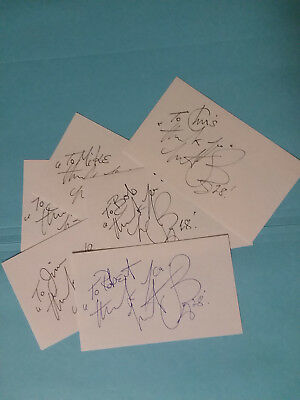 Charlie Watts Drummer Rolling Stones R&R HOF Signed 3x5 Index Card MISC>NAMES !!