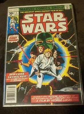 Star Wars #1 1977 Marvel Luke Skywalker Darth Vader First Comic