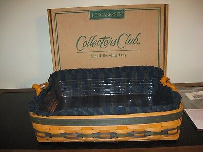 Longaberger 1996 Collector's Club Small Serving Tray Basket Combo New in Box