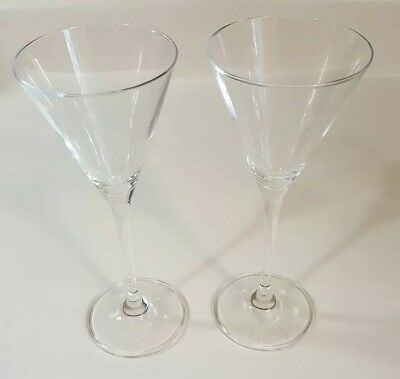Beautiful Grey Goose Martini Glasses Etched with Goose Logo Stemmed 4oz Set of 2