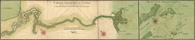 A4 Reprint of Old Maps Early Carte Du Cours Fleuve St Louis Golf Course
