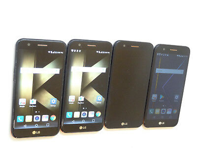 Lot of 4 LG K20 Plus TP260 T-Mobile 32GB Smartphones 1 Unlocked 3 Power On AS-IS