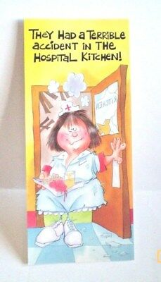 Funny Get Well Soon Greeting Card Retro Humor USA Vintage 1970's