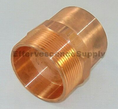 """NIBCO 2"""" Copper x 2"""" Male Threaded Adapter"""