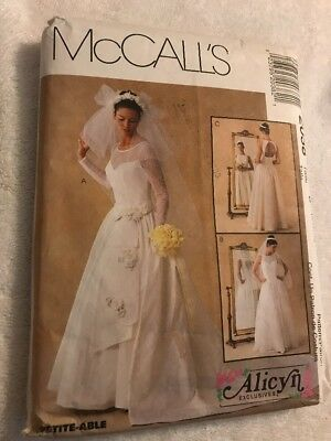 McCall's Alicyn Bridal Gown Backless Dress Pattern Uncut 2038 Size 8-12