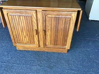 Keller Furniture Oak Sideboard Or Serving Table 1980's Style