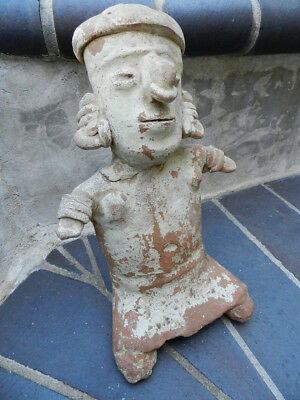 Authentic Large Pre- Columbian Seated  Figure, Nayarit, Mexico, 200 B.C., NR!