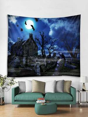 Trees Tapestry Wall Hanging Halloween Midnight Art tapestry For Room Bedspread