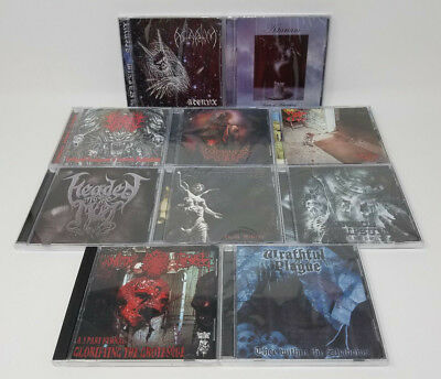 10 CD LOT - METAL (Depressive Black/Doom/Death/Gothic/Crossover) WHOLESALE, NEW