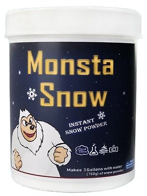 Monsta Snow Instant Snow Powder 150g Makes 8 Litres Great for Cloud Creme, Slime