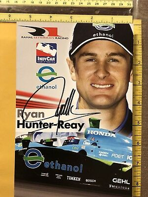 Ryan Hunter-Reay Signed Indianapolis 500 Indy Car 8 X 10 Photo 2008 Rookie Of Yr