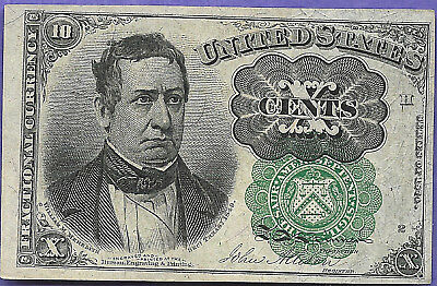Fr 1264 Fractional Currency 10 Cent  Fifth Issue Au Green Seal