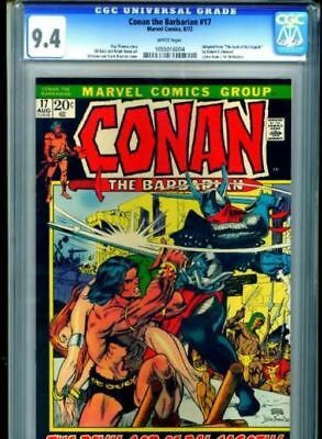 Conan the Barbarian #17 White Pages 1972 CGC 9.4 NM