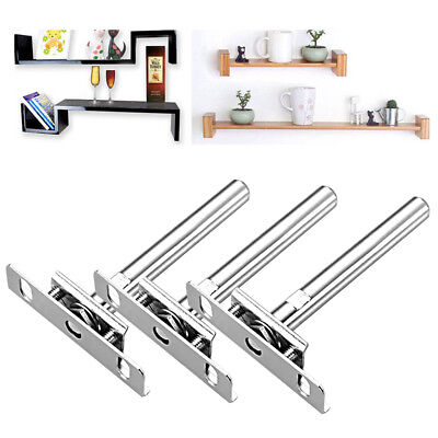 "8/16/24x 5"" Concealed Floating Hidden Wall Shelf Support Metal Brackets Tool Set"