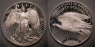 2018 Clark Gruber $40 Winged Saint-Gaudens 1 oz Silver Proof-Like PRE-SALE Coin