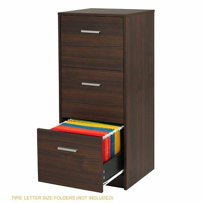 DEVAISE 3-Drawer Wood File Cabinet Organizer Night Stand Office Furniture