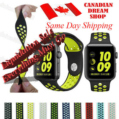 Silicone Strap For Apple Watch Band 42mm/38mm iWatch nike+ all series 1 2 3 4