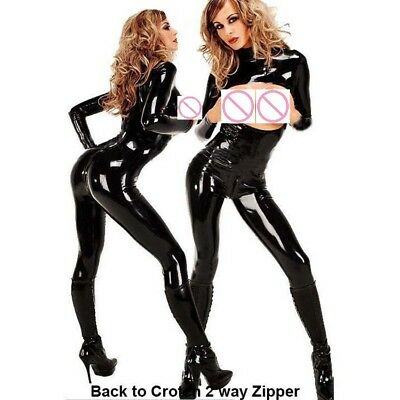 Gothic, Domina, Latex Catsuit, Brustfrei, Latexcatsuit, Schwarz, Gr. M-XL-2XL