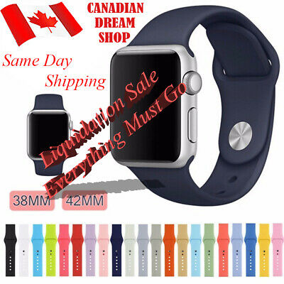 Silicone Replacement Strap For Apple Watch Band 42mm/38mm all series 1 2 3 4